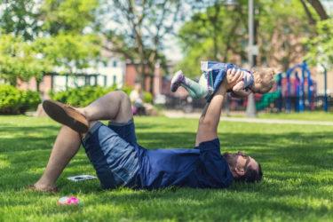 【在宅編】パパが子供と時間を潰す方法【筋トレ】